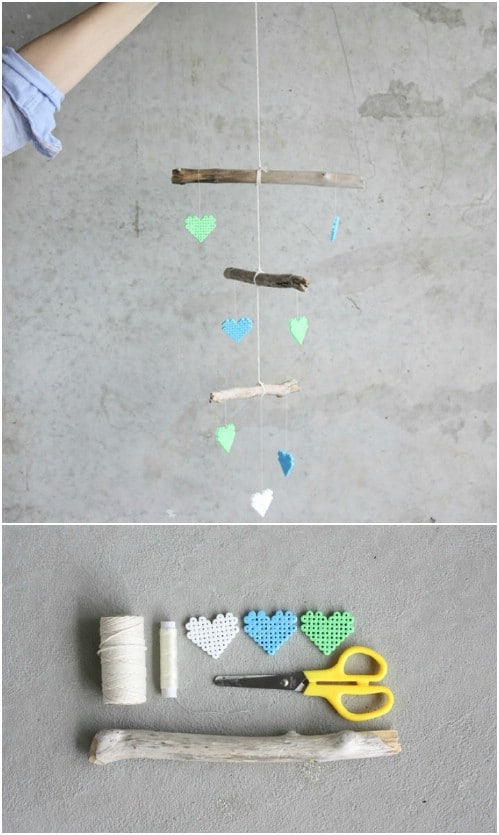 DIY Driftwood And Bead Crib Mobile