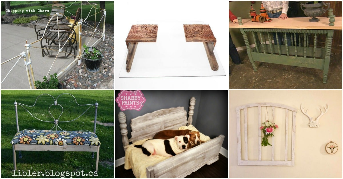 15 Brilliantly Creative Ways To Upcycle An Old Bed Frame   DIY   Crafts I love nothing more than taking something that seems like trash and turning  it into home d    cor or furniture  I haven t quite determined which of these  bed