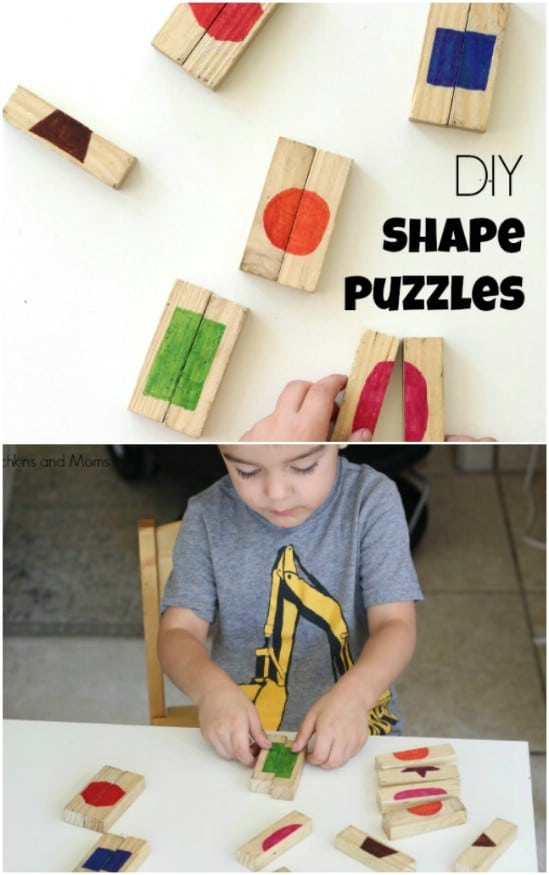 DIY Wooden Shape Puzzles
