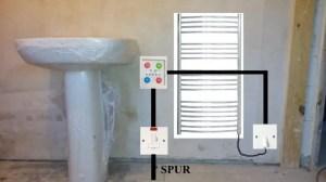 Dual Fuel Towel heater in bathroom | DIYnot Forums