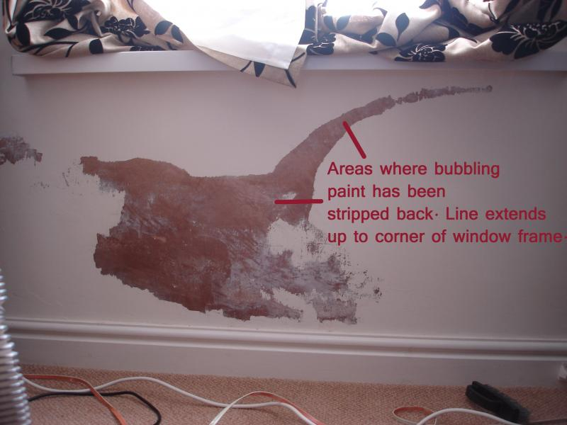 Bubbling Paint Due To Reoccurring Damp Problem What Cause