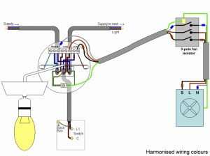 wiring extractor fan and light | DIYnot Forums