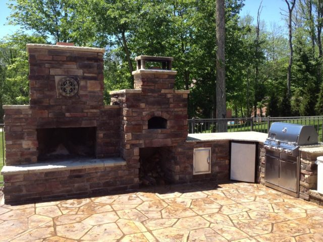 diy outdoor fireplace and pizza oven combos are trending