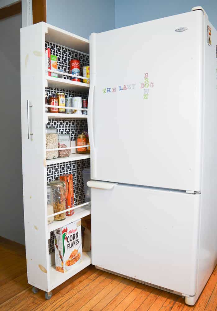 diy pull out pantry the easy tutorial