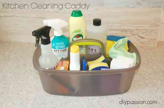 How to stock & organize a cleaning caddy
