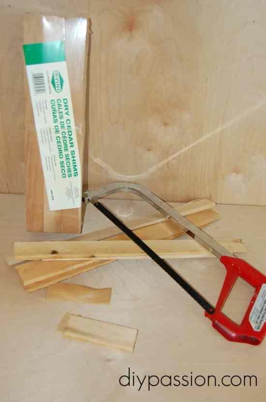 DIY Herringbone Back Splash