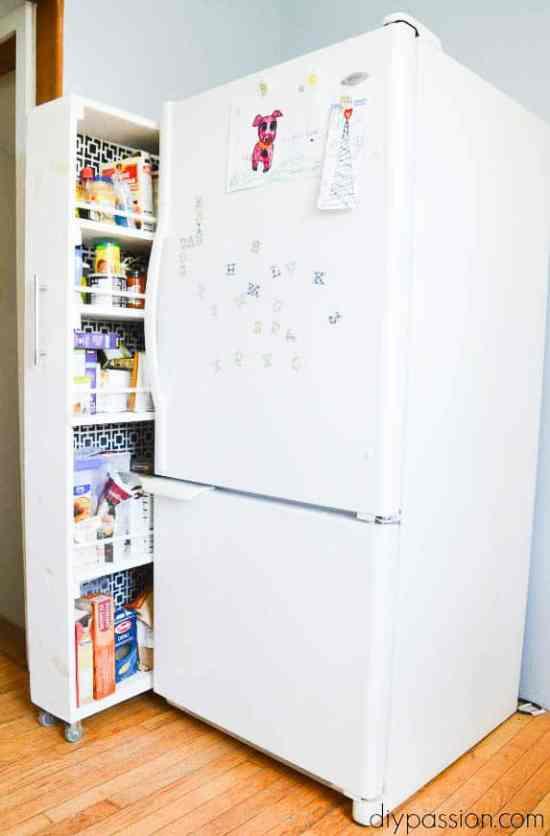 Space Saving Pantry in a DIY Kitchen upgrade