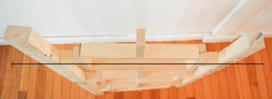 Make sure your boards are plumb
