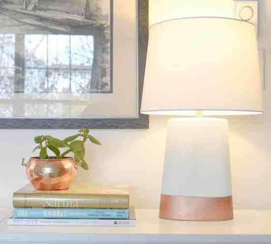 Spray Painted Yard Sale Lamp