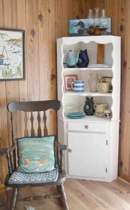 How to use leftover paint Chippy Cabinet Makeover