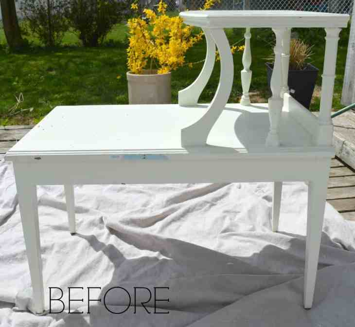 Stripped Wooden Table Before