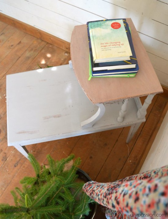 Stripping End Table Above