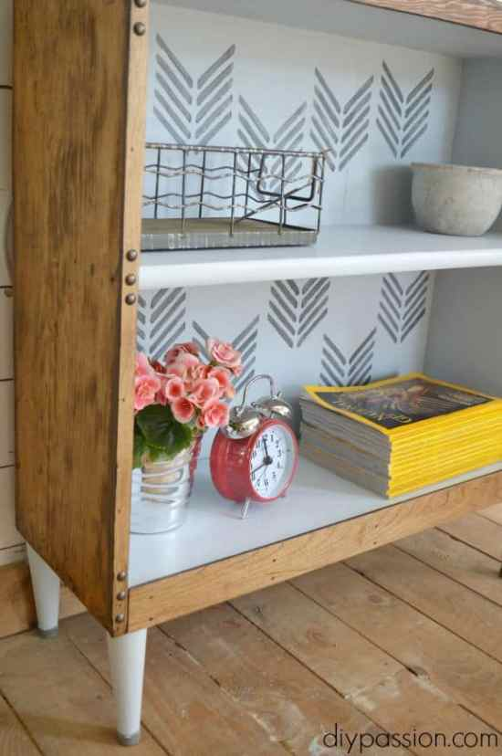 Thrifted Bookshelf Rescue Close Up