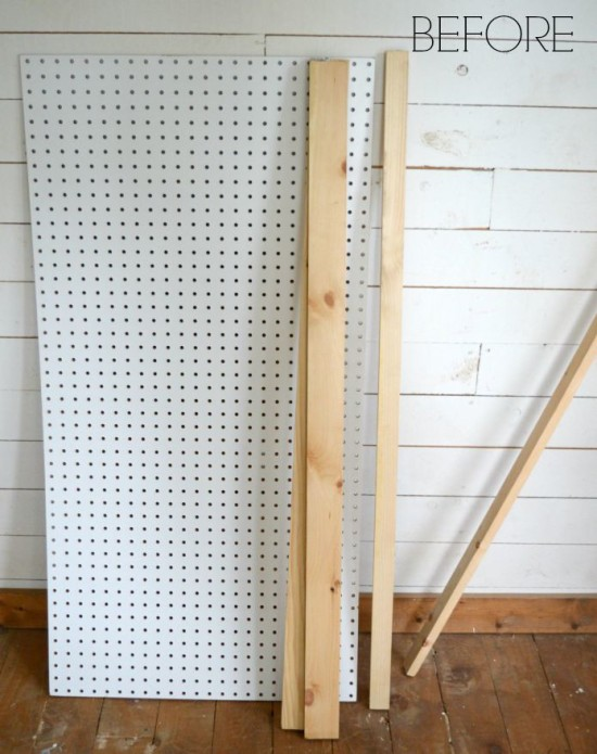 DIY Nautical Peg Board BEFORE