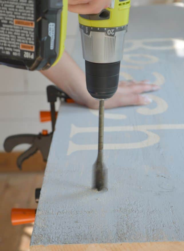 DIY Scrap Wood Sign Using a Countersink Drill Bit