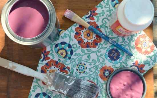 How to decoupage using paper napkins