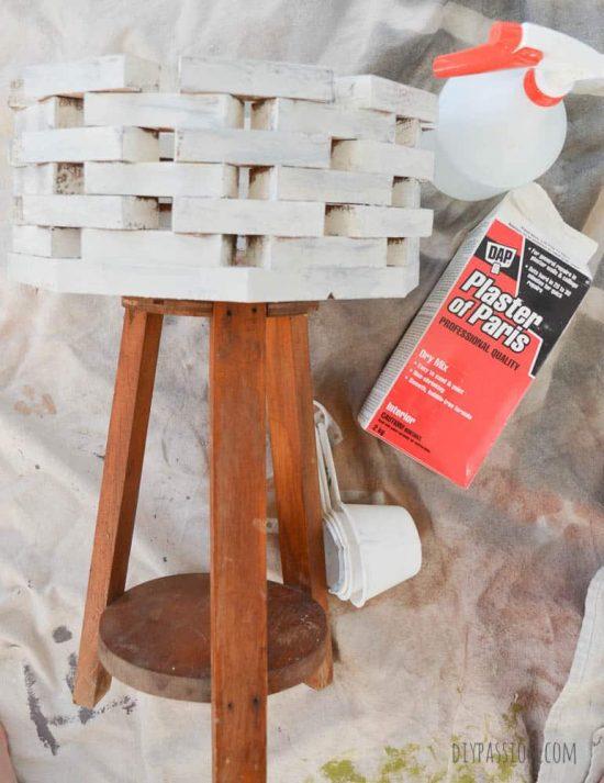 DIY Faux Concrete using paint and plaster