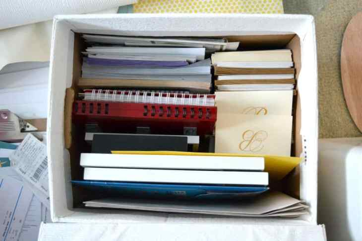 Decluttering Craft Supplies and Paper