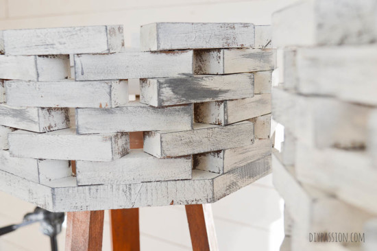 Distress Wood to look like Weathered Concrete