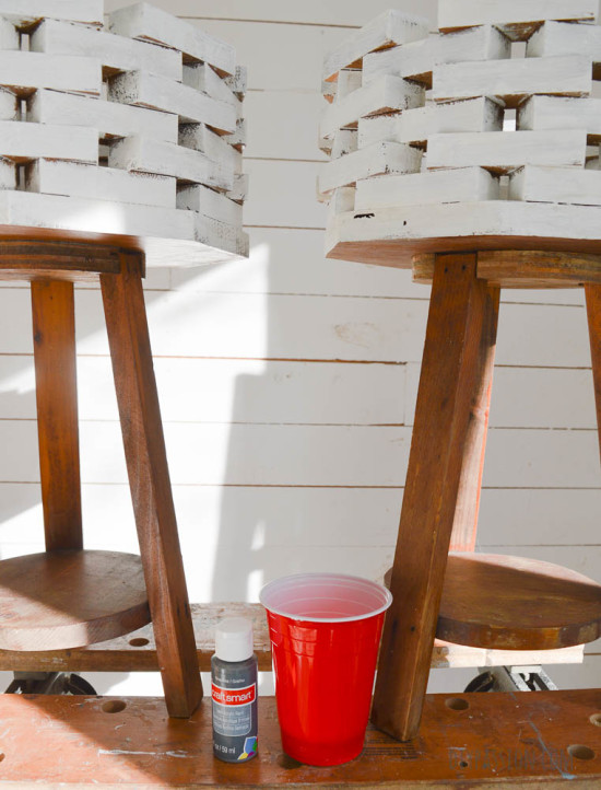 How to Paint Wood to Look like Concrete