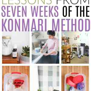 seven lessons in seven weeks of konmari