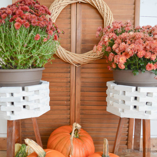 Use Plaster and Paint to create DIY Faux Concrete Planters