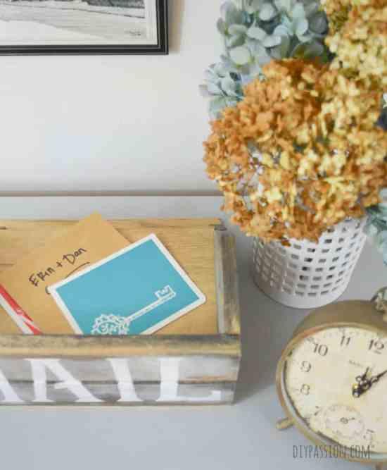 Magnolia Market Inspired Rustic Mail Sorter