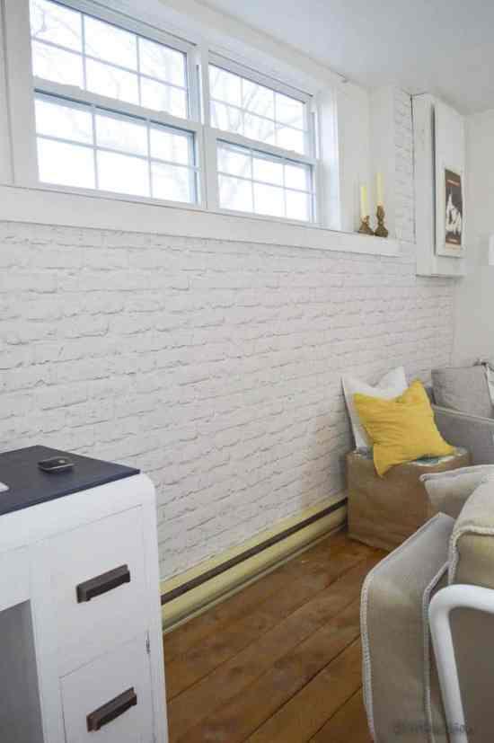 Faux Brick Basement Wall