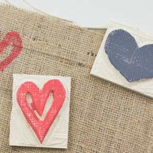 How to use homemade stamps with paint