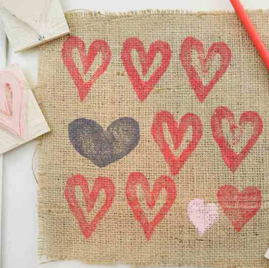 Make your own Heart Shaped Stamps