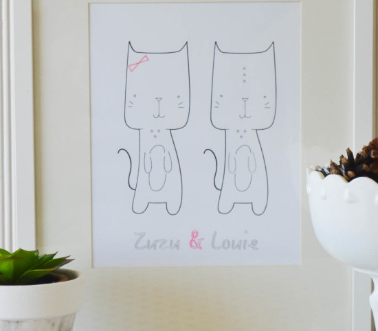 Kitty cat artwork