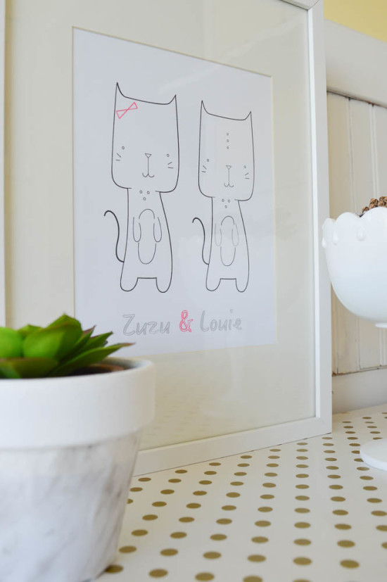 Quick and easy wall art with Silhouette Cameo