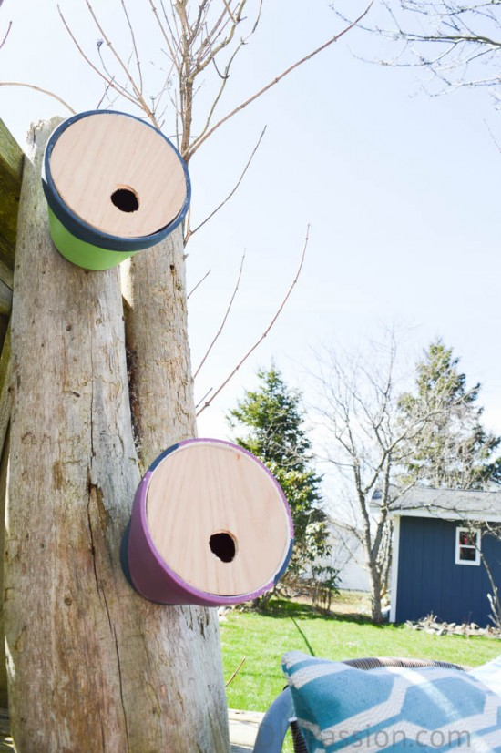 Birdhouses from planters