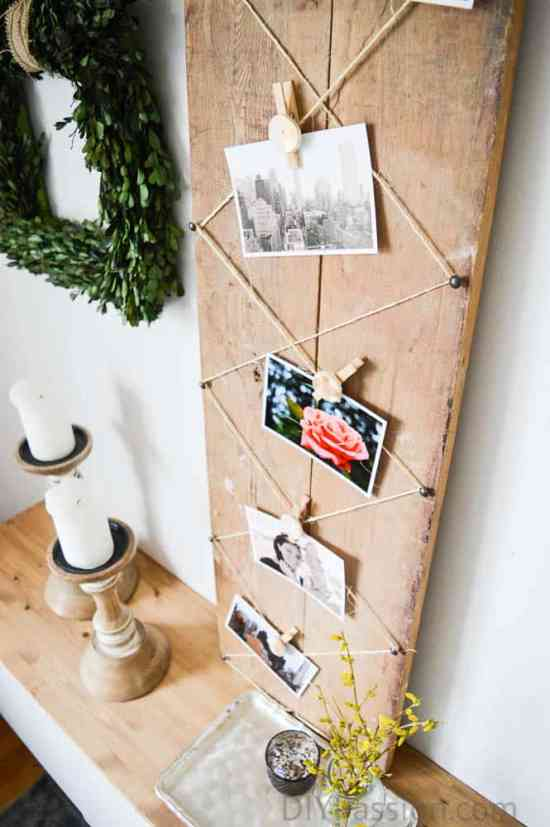 Photo Vignette with Air Dry Clay Clips