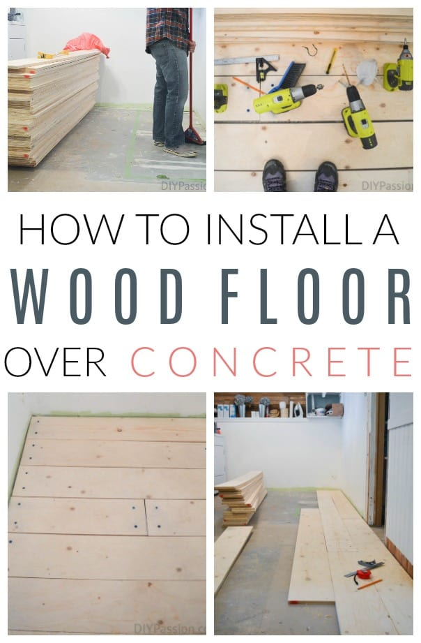 How To Install A Barn Board Floor Over Concrete Tutorial Diy Passion