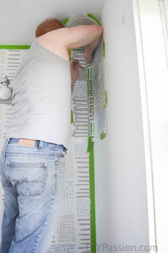How to stencil into a corner
