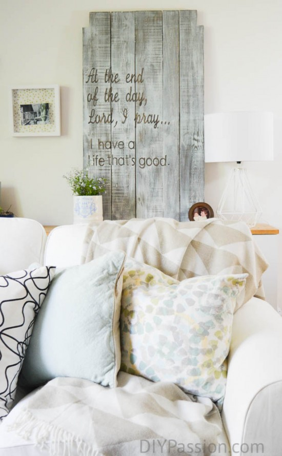 How to turn a table into wall art