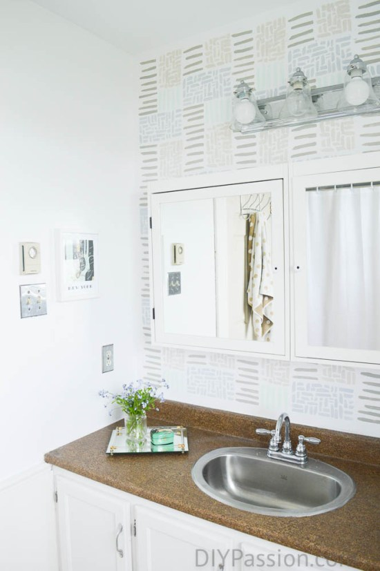 How To Disguise An Ugly Bathroom Countertop Diy Passion