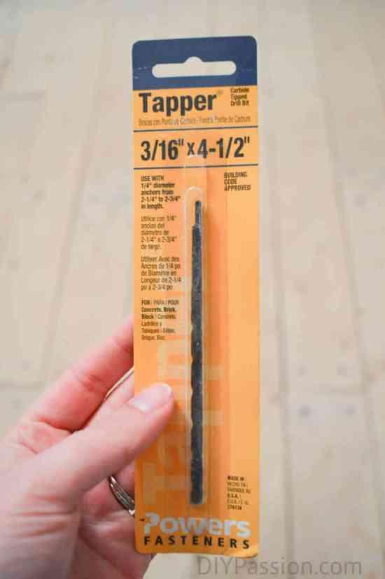 The Tapcon Drill Bit