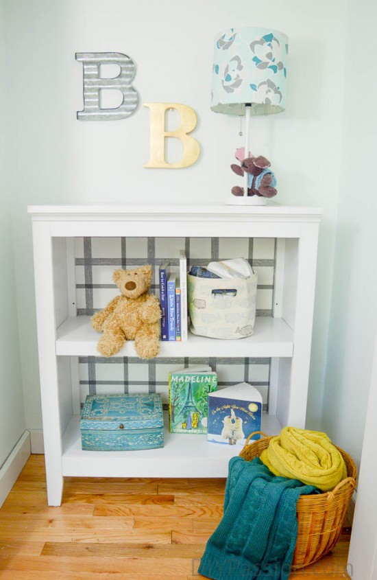 Wall Papered Bookcase