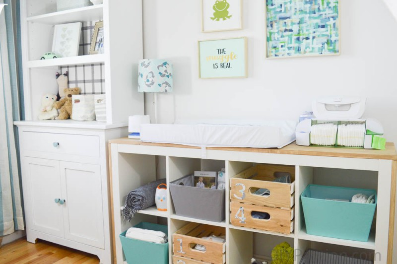Change Table and Storage Hutch with Munchkin Canada & How to Organize a Nursery and Repurpose Old Furniture u2013 DIY Passion