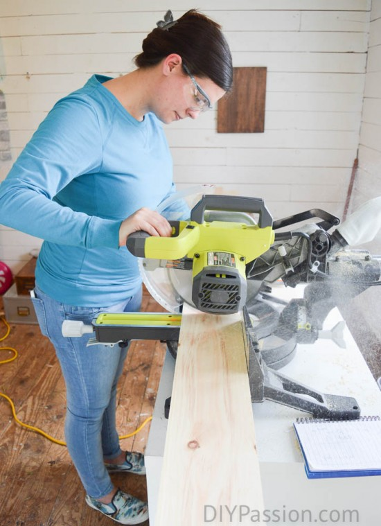 Cutting down boards to clad change table