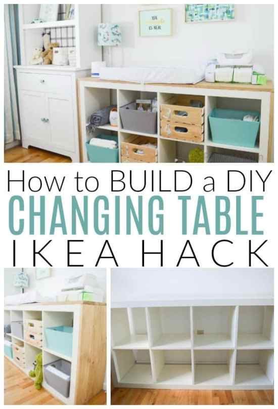 diy changing table ikea hack