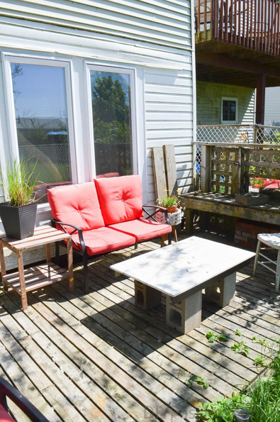Outdoor patio area BEFORE
