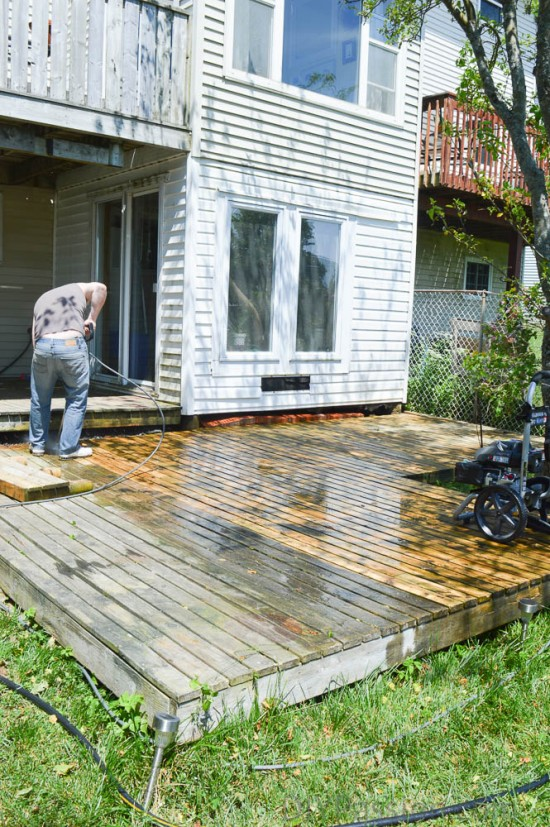 Pressure washing the whole picture