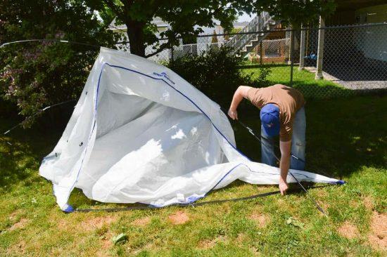 Assembling the Spray Shelter