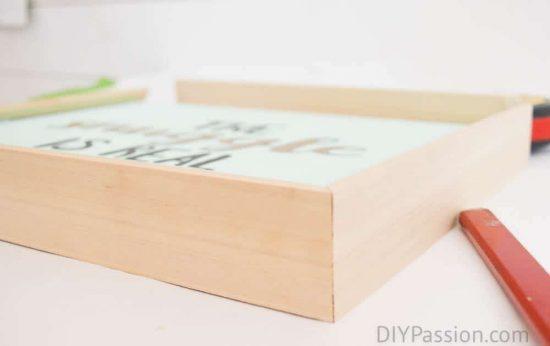 Build a DIY wooden frame for canvas art