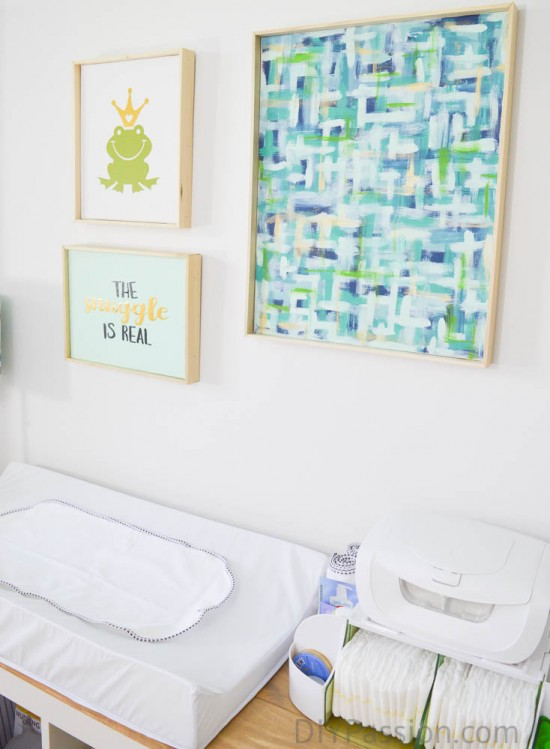 How to create and frame your own nursery art
