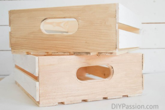 Storage Crates with Stain and Paint