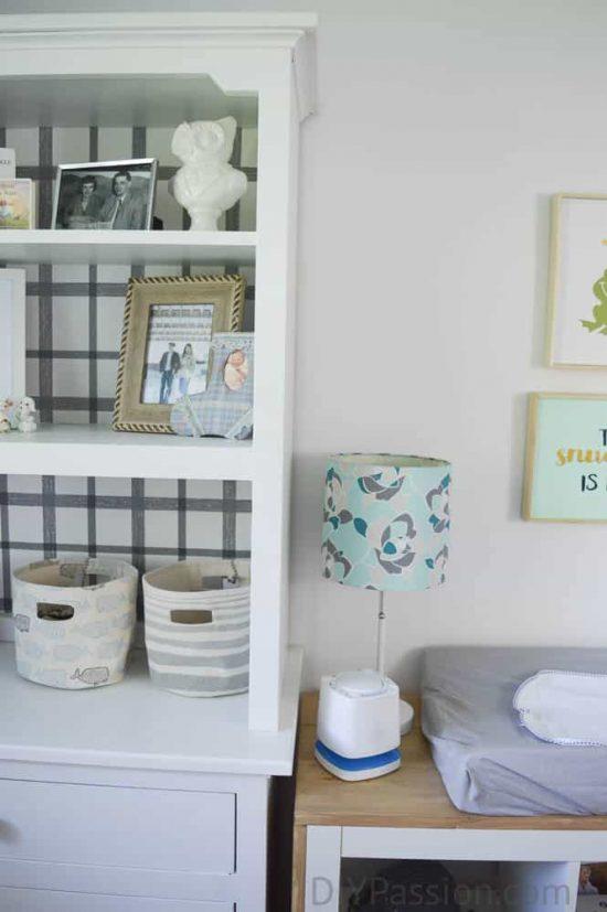 Gender Neutral Nursery with Repurposed Furniture